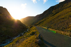 Honister Pass during Sunset Royalty Free Stock Photo