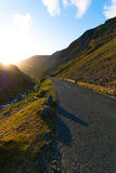 Honister Pass during Sunset Stock Image