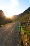 Honister Pass during Sunset Stock Photography