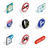 Honk icons set, isometric style. Honk icons set. Isometric set of 9 honk vector icons for web isolated on white background Royalty Free Stock Image