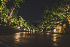 Honk Kong, Listopad 2018 - Nan Liana ogródu park fotografia royalty free