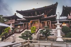 Honk Kong November 2018 - Nan Lian Garden parkerar arkivfoton