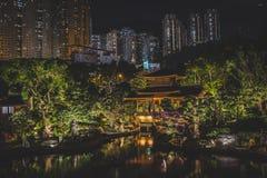 Honk Kong November 2018 - Nan Lian Garden parkerar royaltyfri fotografi