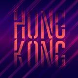 Honk Kong. Typography. Vector print on t-shirt Royalty Free Stock Photo