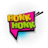 Honk comic book text pop art. Honk sound hand drawn pictures effects. Template comics speech bubble halftone dot background. Pop art style. Comic dialog cloud Royalty Free Stock Photos
