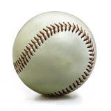Honkbal dat op wit wordt geïsoleerdl stock fotografie