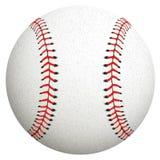 Honkbal dat op wit wordt geïsoleerdl Vector illustratie Stock Afbeeldingen