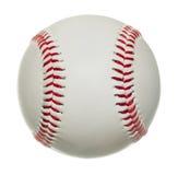 Honkbal dat op witte achtergrond wordt geïsoleerdk Stock Afbeelding