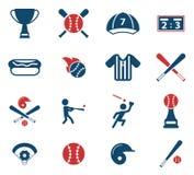 Honkbal eenvoudig pictogrammen Royalty-vrije Stock Foto
