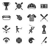 Honkbal eenvoudig pictogrammen Royalty-vrije Stock Foto's