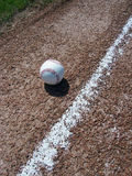 Honkbal en Basislijn Royalty-vrije Stock Fotografie