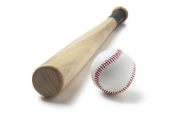 honkbal en honkbalknuppel Stock Foto's