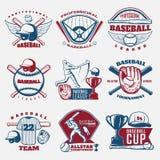 Honkbal Gekleurde Emblemen Stock Foto