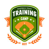 Honkbal het embleem van het opleidingskamp Stock Foto