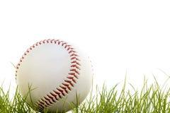 Honkbal in het gras Stock Afbeelding