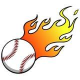 honkbal met vlammen vector illustratie