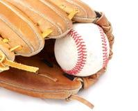 Honkbal in mitt Stock Foto's