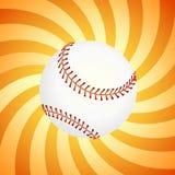 Honkbal op de oranje achtergrond -   Stock Fotografie