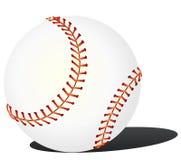 Honkbal op de witte achtergrond - vector Stock Afbeelding