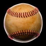 Honkbal op Zwarte wordt geïsoleerd die Stock Foto's