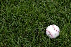 Honkbal in outfield Stock Foto's