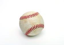 Honkbalbal over wit Stock Foto's