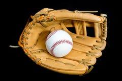 Honkbalhandschoen en Bal Royalty-vrije Stock Fotografie