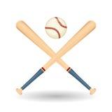 Honkbalontwerp, sport en leveringsillustratie Royalty-vrije Stock Afbeeldingen