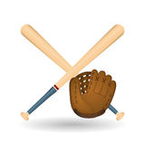 Honkbalontwerp, sport en leveringsillustratie Royalty-vrije Stock Foto's