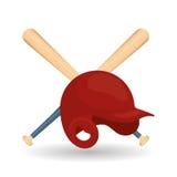 Honkbalontwerp, sport en leveringsillustratie Stock Afbeeldingen