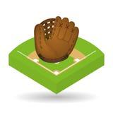 Honkbalontwerp, sport en leveringsillustratie Stock Foto