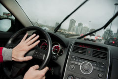 Honking na estrada Fotografia de Stock