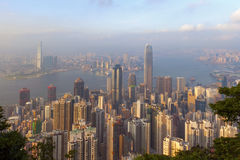 Honking nice view from victoria peak Royalty Free Stock Photo