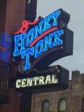 Honky-tonkzentralzeichen stockfoto