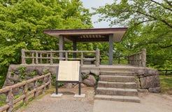 Honmaru Inui tornplats i den Hirosaki slotten, Hirosaki stad, Japa Royaltyfri Bild