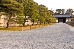 Honmaru palace pathway, Nijo castle Stock Photos