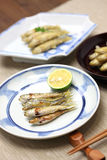 Honmoroko, willow gudgeon, japanese cuisine Royalty Free Stock Photography