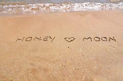 Honneymoon en el mar Imágenes de archivo libres de regalías