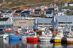 Honningsvag, το En της Ευρώπης Στοκ φωτογραφίες με δικαίωμα ελεύθερης χρήσης