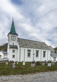 Honningsvag Church in Finnmark county, Norway. Stock Images