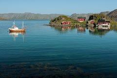 Honningsvag en Noruega Fotos de archivo libres de regalías