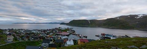 Honningsvag en Norvège Photo libre de droits