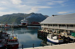 Honningsvag harbor, Nordkapp municipality, Norway Stock Photo
