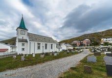 Honningsvag-Kirche in Finnmark-Grafschaft, Norwegen Lizenzfreies Stockfoto