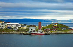 Honningsvag Norge royaltyfria foton