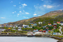 Honningsvag is Norwegian town beyond the Arctic Circle. Honningsvag is Norwegian town beyond Arctic Circle Stock Photos