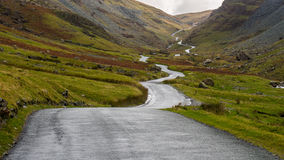 Honister Pass Road, Lake District, England Royalty Free Stock Photo
