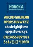 Honoka. Fun handmade typeface Royalty Free Stock Photo