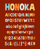 Honoka Starry. Fun handmade typeface Royalty Free Stock Photo