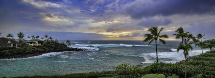 Honokeana Bay on Maui Hawaii royalty free stock photography